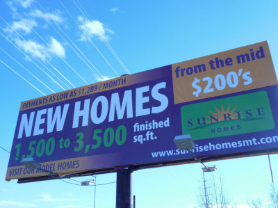 New Home Billboard