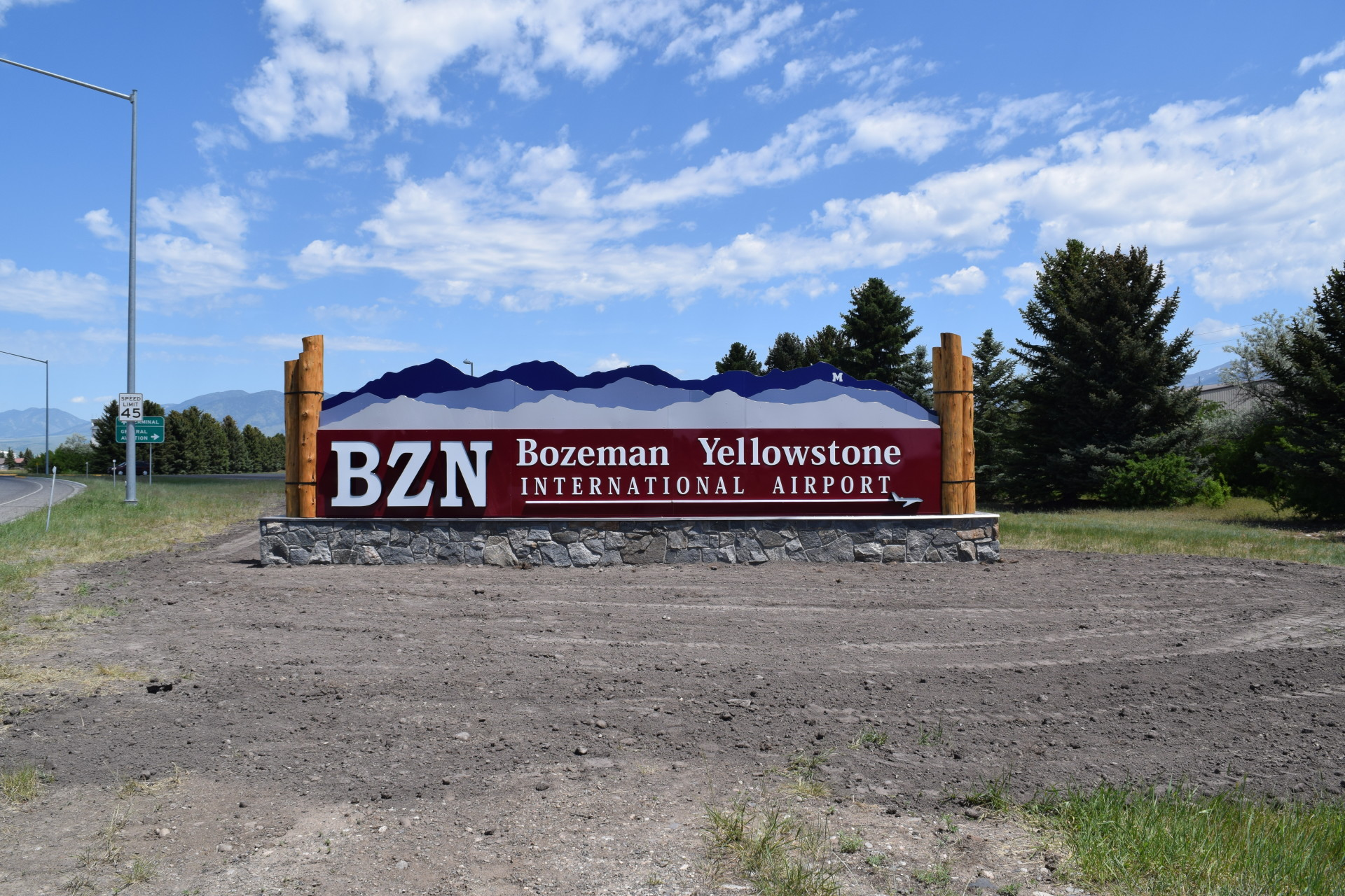 BZN Airport Monument sign